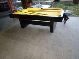 Mesa Sedução Semi Cor Preta Tecido Amarelo Mod. WPKW0337