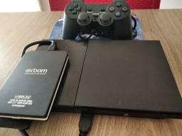 Playstation 2 Completo + HD 500 Gb e mais de 150 Jogos