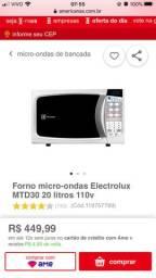 Microondas Electrolux MTD30 - 3 meses de uso, motivo mudança!!