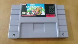Super Mario Kart - cartucho fita de super nintendo snes sfc