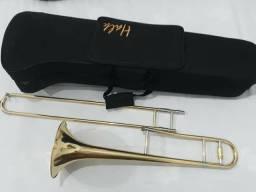 Trombone De Vara Tenor Bb  Laqueado Completo