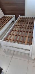 Cama (2) solteiro madeira maciça patinada