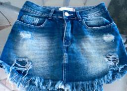 Shorts e mini saia tamanho 36/38