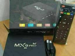 Tv box mxq pro 8ram 64 interna Android 10 Wi-Fi 5G Netflix YouTube