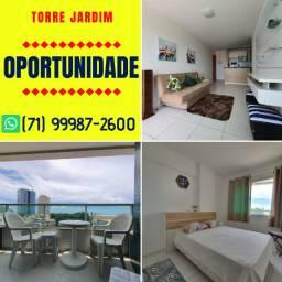 Torre Jardim, 1 quarto com 45m², vista mar em Armação