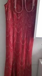 Vestido de festa +santalia +bolsinha