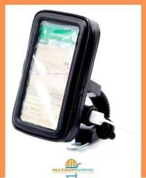 Suporte Impermeável com Carregador USB de Celular para Moto