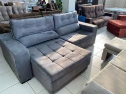 Sofá retrátil e reclinável novo frete grátis.