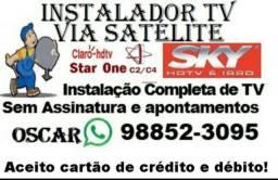 Antenista Instalador de Antenas de Tv Via Satélite