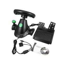 Volante Gamer 4 Em 1 Joystic Xbox 360 Ps3 Ps2 Pc Pedal Cambio Usb