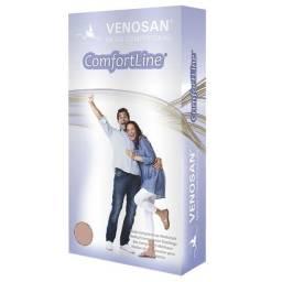 Meia de compressão meia confortline 20-30 agh pé aberto curta bege