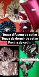 TOUCA  DIFUSORA E FRONHA  DE CETIM
