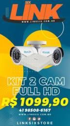 Kit 2 cameras hd instalado
