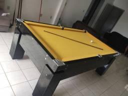 Mesa Gaveta de Bilhar Cor Preta Tecido Amarelo Mod. PBEM6359