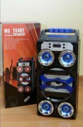 Caixa de Som Bluetooth MS-735 BT 5 Alto Falantes