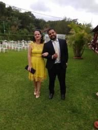 Vestido madrinha amarelo curto
