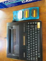 Máquina de escrever digital Casio. Funcionando! Na caixa