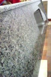 Pia lindíssima de cozinha + pedra para balcão