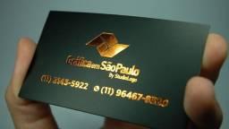 Cartão de visitas hot stamping de alta qualidade - 1000 unds