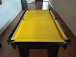 Mesa Charme de Redes Cor Preta Tecido Amarelo Mod. QHEV4331