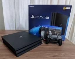 Playstation 4 PRO 1tb, 3 jogos, 1 controle (5 meses de pouquíssimo uso!!!)