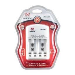 Carregador De Pilhas Baterias Bi-volt Auto Stop Mox Mo-cp50