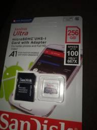 Cartão memória  Sandisk 256gb