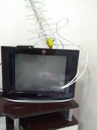 Tv tela plana c/ Conversor + antena