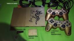 PS2 com OPL e Pendrive (Playstation 2)