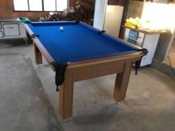 Mesa Tentação e Jantar Cor Cerejeira Tecido Azul Mod. YUYW4682