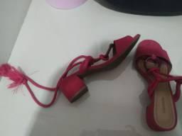 Sandália rosa amarração Sapatella
