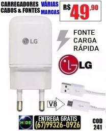 Carregadores LG carga rápida (entrega grátis)