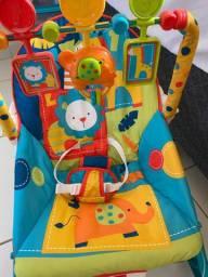 Cadeira de Balanço e Descanso Vibratória para Bebê Musical com Vibração e Som