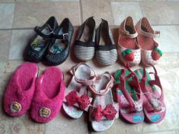 Lote calçados infantil menina 2/3 anos