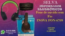 Fone Headphone S/fio Bluetooth C/microfone Vídeo Chamada Inova FON-6709