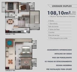 Apartamento Cobertura Duplex 03 quartos (2 suítes) 600 metros do mar na Itajuba