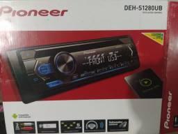 Rádio Pioneer novo completo compatível com celular