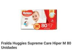 Fraldas Huggies 80un por 50