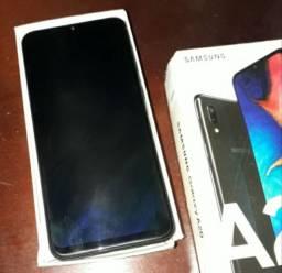 Samsung A20 Preto com película de carbono traseira, sem nenhum trinco marcas de uso etc