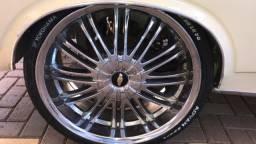 jogo de rodas aro 20 multifuros 5x100 sem pneus