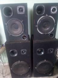 Jogo de 6 caixas de som de grandes portes