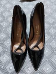 Sapato salto largo
