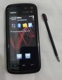 Nokia 5800 XpressMusic raro com película e caixa em excelente estado para colecionador