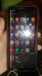 Samsung galaxy s9+ tela tricado com litra tela