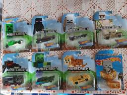 Lote Hot Wheels com 8 miniaturas Minecraft lacradas raras!
