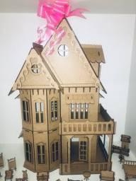 Casinha de Bonecas Castelo com 30 móveis