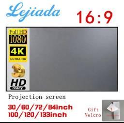 "Tela para projetor LEJIADA 100"""