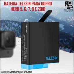 Título do anúncio: Bateria Telesin Para GoPro Hero 5, 6, 7, 8 Black e 2018