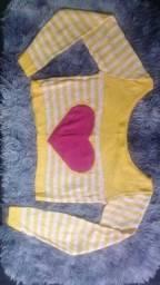 Blusas de algodão tricô