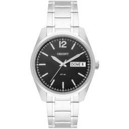 Relógio Orient Masculino Prateado Mostrador Escuro